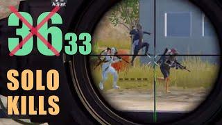 ALMOST MY NEW RECORD!!!   33 KILLS   SOLO SQUAD   PUBG MOBILE