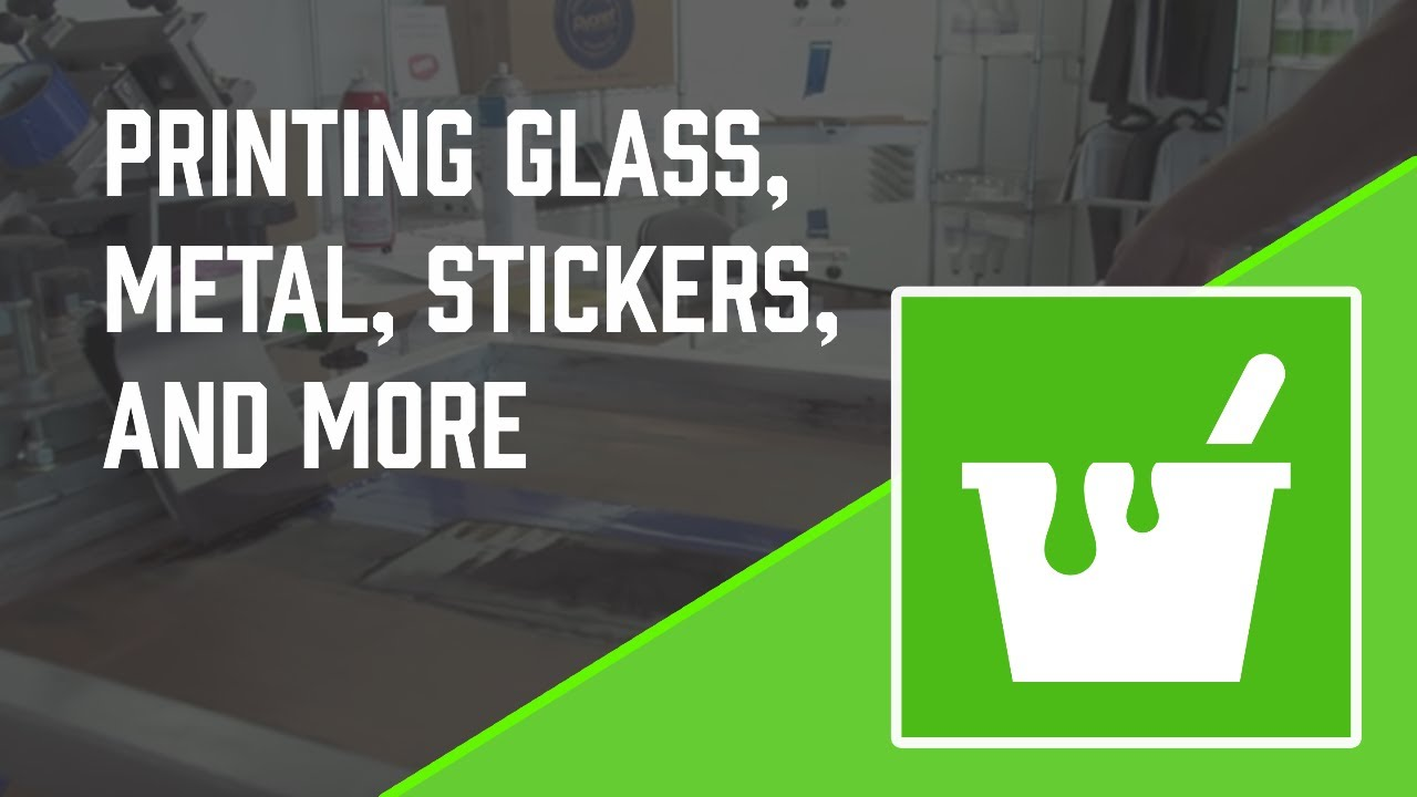 How To Screen Print Graphic Inks Sticker Printing Glass