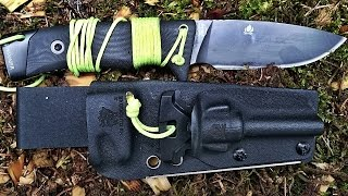 low-budget SURVIVAL MESSER  - Full Tang, Fire Steel, Kydex, ...