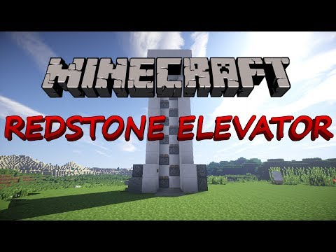 Minecraft how to make a redstone elevator with doors 1.8 No Mods (HD)
