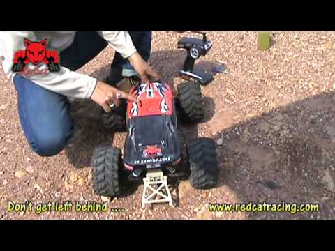 RedCat Racing EarthQuake 8E Wheelie Bar Test