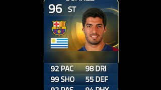 FIFA 15 TOTS SUAREZ 96 Player Review & In Game Stats Ultimate Team