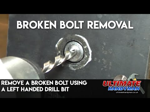 Remove a broken bolt using a left handed drill bit