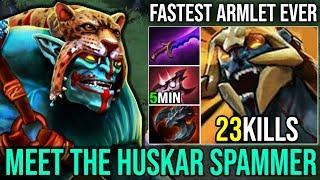 Fastest Armlet Ever [Huskar] COME AND FIGHT ME By Zin Huskar Spammer 3200+Matches | Dota 2 FullGame