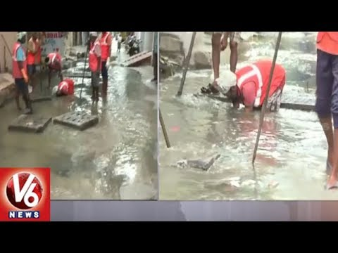 Hyderabad Low Laying Area Residents Face Problems As Heavy Rains Lash City | V6 News