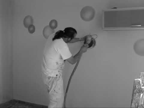 Como hacer decoracion a rayas y efecto burbujas.