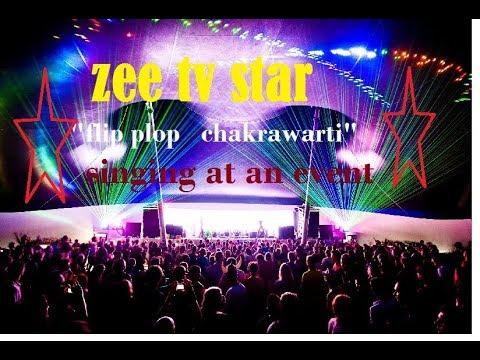 """SAREGAMA STAR """"FLIP FLOP CHAKRAWARTI"""" AT AN EVENT"""