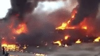 Two Planes Crash Mid Air Caught On Tape