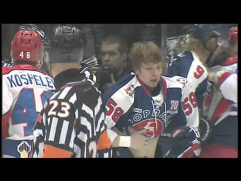 KHL Fight: Ashton VS Sergeyev, Ilyin VS Telegin