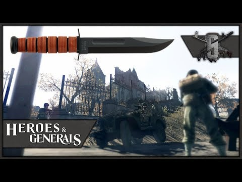 Para Knife Only Subscriber Challenge - Heroes and Generals - US Paratrooper Gameplay