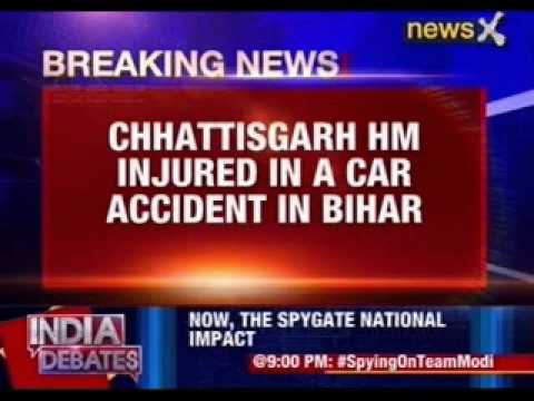 Chattisgarh Home Minister Ramsevak Paikra injured in a car accident
