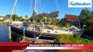 Ultra low sailboat boatcover installation movie guide