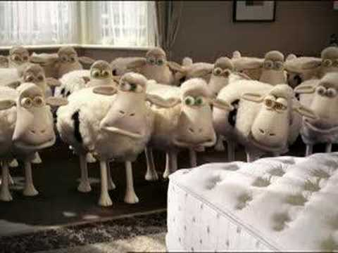 I think this is the new Serta Counting Sheep TV commercial!