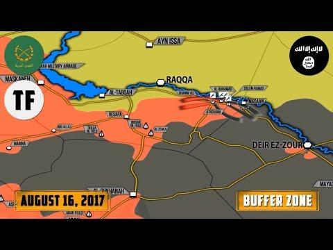 16 августа 2017. Военная обстановка в Сирии. Контратака ИГИЛ, боевики США сбили сирийский самолет.
