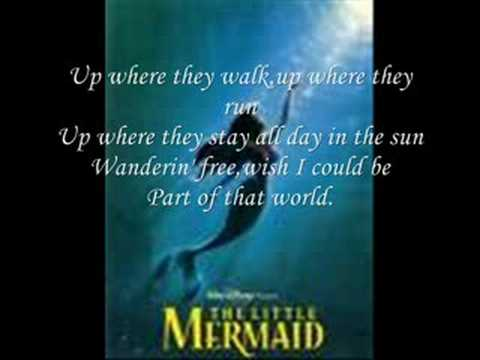 Little Mermaid Lyrics Part of That World The Little Mermaid-part of