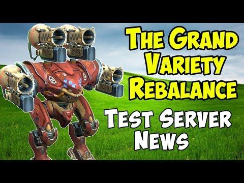 The Grand Variety Rebalance Is Coming - War Robots Test Server News WR