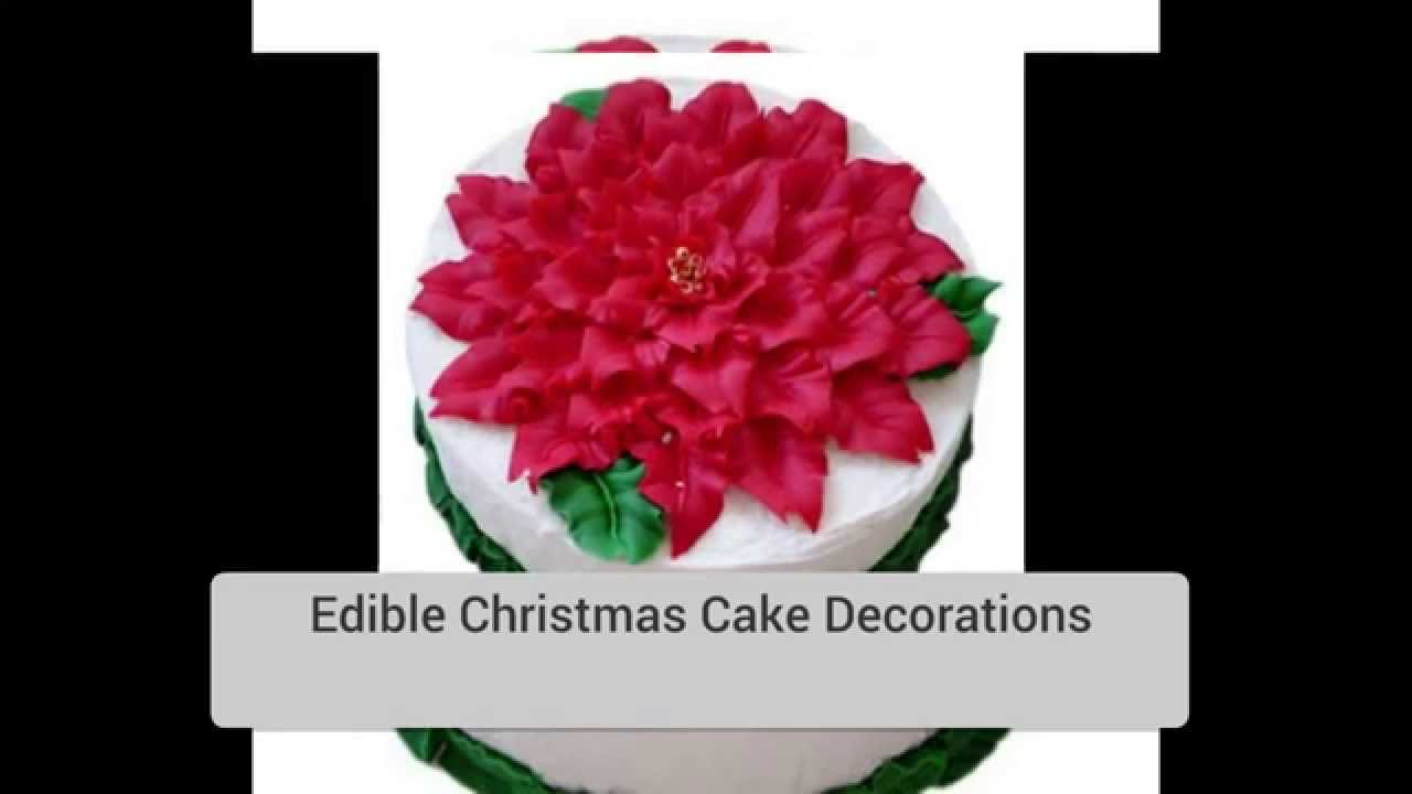 Edible Christmas Cake Decorating Recipes : EDIBLE CHRISTMAS TREE DECORATIONS - YouTube
