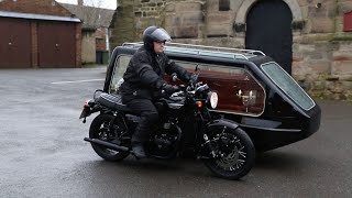 Reverend Creates Motorbike Hearse For Bikers