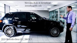 A broad view 2019 Mercedes-Benz GLC 300 SUV review from Mercedes Benz of Arrowhead - call for price