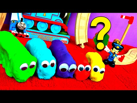 Play Doh Thomas & Friends Guessing Game! Guess Who's Hiding! Hide n Seek Toy Learning Game FluffyJet