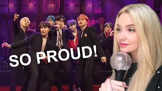 BTS SNL PERFORMANCE REACTION VIDEO (BOY WITH LUV + MIC DROP)