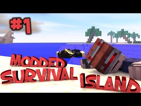 Survival Island Modded Minecraft: Shipwrecked Part 1
