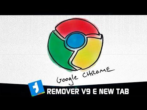 Como Remover o site V9 e a New tab do Google Chorme (2018)