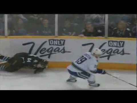 Keith Ballard Hip Check On Jamie McGinn (video)