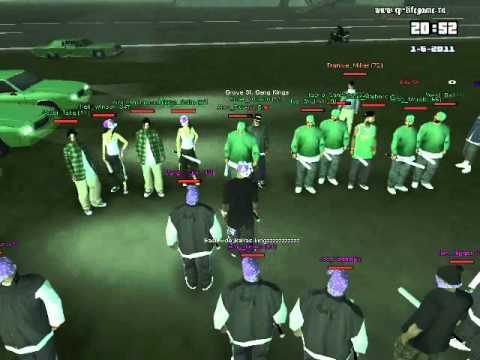 Ballas vs Grove  Ballas win Gta San Andreas Ballas Vs Grove Street