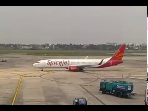 Spicejet Flight Take Off Kolkata Airport - Indigo Flight Take Off Dumdum Airport Runway