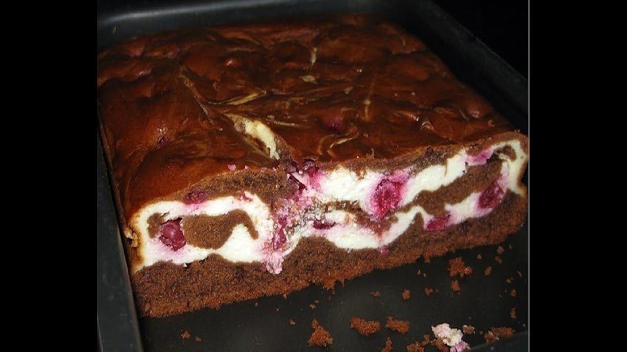 Рецепт пирога с шоколадом и вишней рецепт с