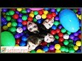 Ball Pit Party 7 Second Easter Egg Treasure Hunt Slime Challenge That YouTub3 Family The Adventurers