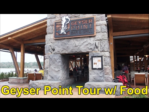 NEW Geyser Point Bar & Grill Full Tour with Food & Drinks at Disney's Wilderness Lodge