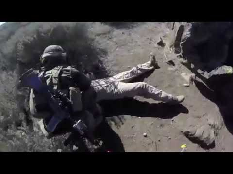 USMC practice tactical recovery of downed air crew,