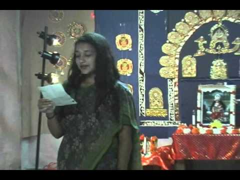 Sarkar Family, Usa Religion Lakshmi Pujo Esho Ma Lakshmi Bosho Ghore Oct 2011 video