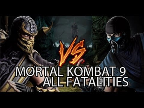 Mortal Kombat 9 All Fatalities  [HD] [2013]