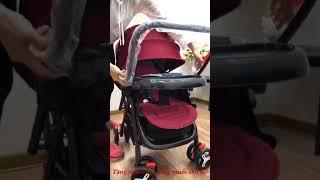 Hướng dẫn sử dụng xe đẩy em bé 2 chiều 3 tư thế (Liên hệ: 0935628570 tư vấn)