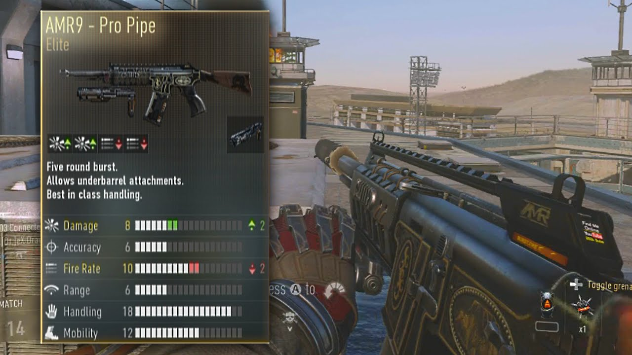 Amr9 pro pipe quot elite weapons of advanced warfare youtube