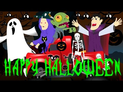 Happy Halloween Songs for Kids | Scary Rhyme for Children | Little Kids TV