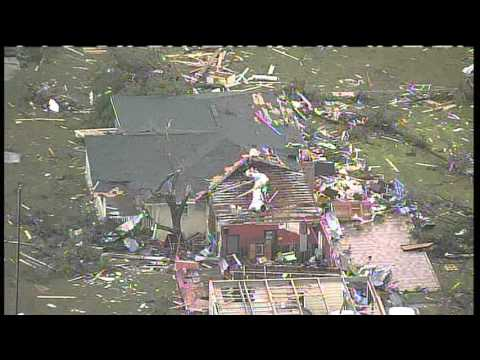 Aerial video of tornado destruction in Cleburne, TX (from KXAS)