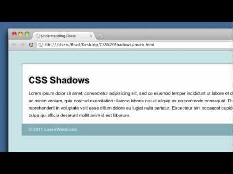 CSS Shadows (text-shadow, box-shadow + intro to RGBA colors)