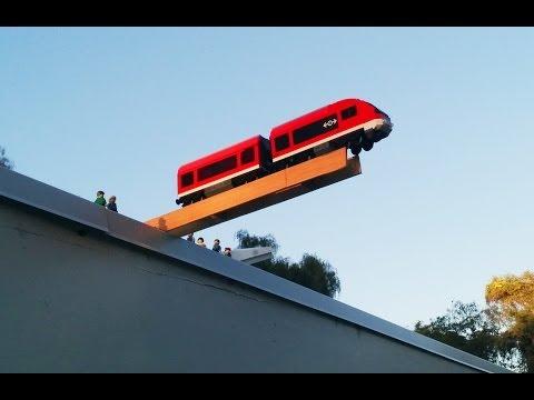 LEGO City train crash test