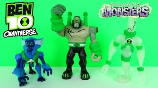 BEN 10 OMNIVERSE GALACTIC MONSTERS TOYS EPISODE Frankenstrike vs Ghostfreak & Spidermonkey ALIENS