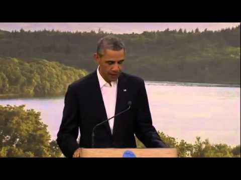 Video: EU US trade TTIP G8 Summit  2013 Obama, Barroso, Van Rompuy and Cameron