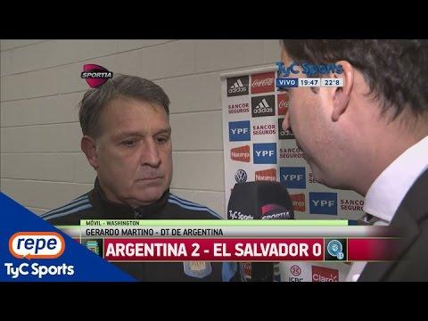 Gerardo Martino analizó el triunfo de Argentina ante El Salvador