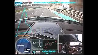 Aston Martin Vantage GT4 at Yas Marina Circuit, Abu Dhabi UAE