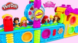 Disney Princesses Get Birthday Surprise Toys from Magic Play Doh Mega Fun Factory Playset!