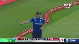 Sensational Ben Stokes catch off AB de Villiers