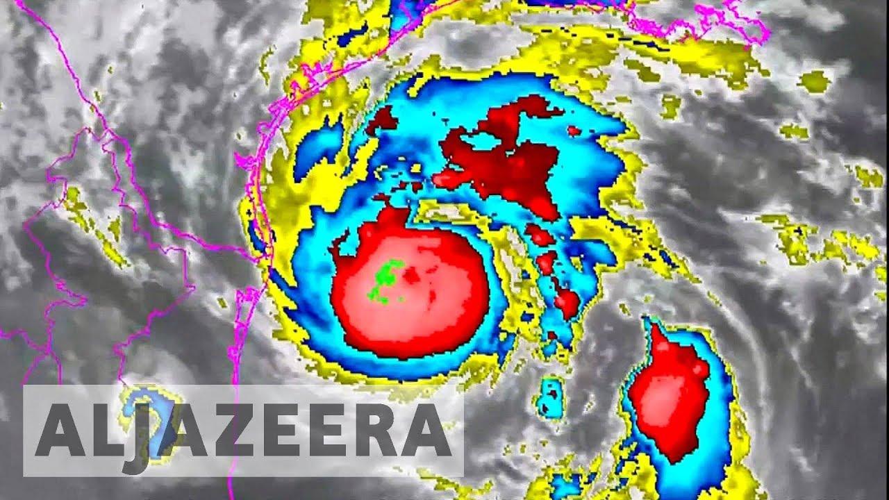 Texas begins mass evacuations as Hurricane Harvey approaches