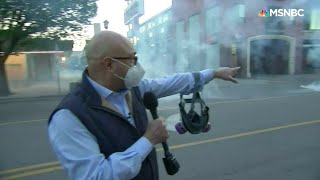 Police Shoot Tear Gas Toward  MSNBC Crew, Protesters, 'There Was No Warning Whatsoever' | MSNBC